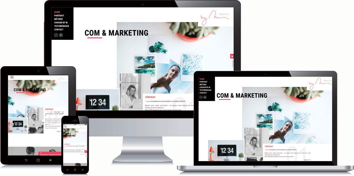 Agence By M en version responsive