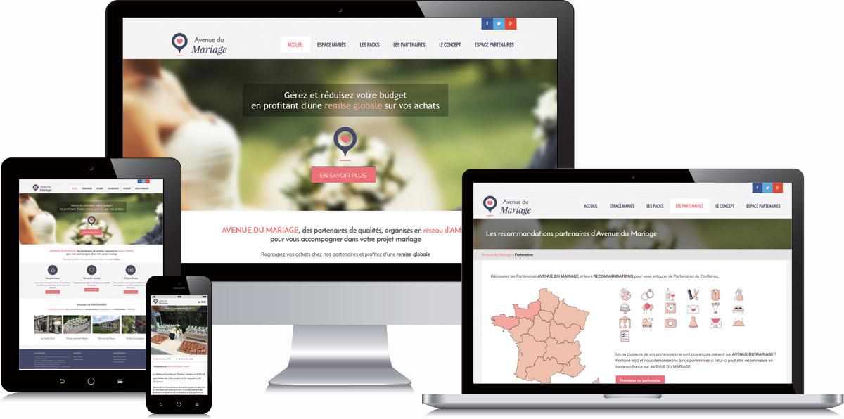 Avenue du mariage en ligne version responsive